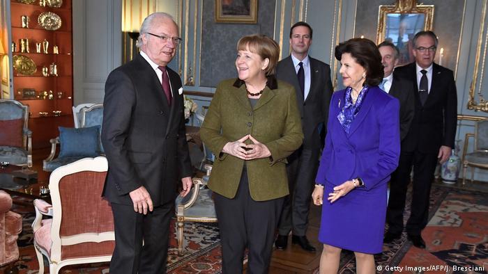 Merkel, swedish king and Queen