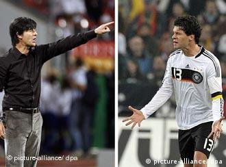 Pictures of Joachim Loew and Michael Ballack