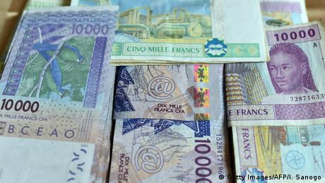 File photo of the common West African CFA franc currency.