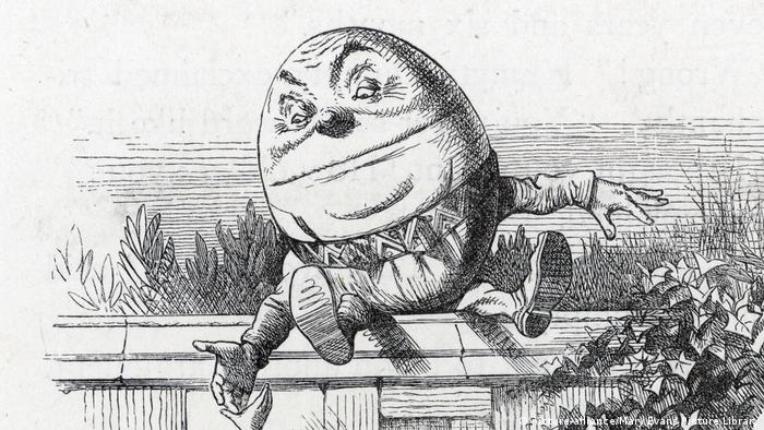 Drawing of Humpty Dumpty, the egg character, on a wall (picture-alliance/Mary Evans Picture Library)