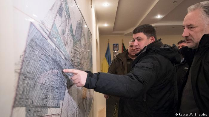 Владимир Гройсман в Авдеевке 31 января 2017 года