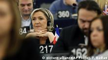 Frankreich - Marie Le Pen im Europaparlament