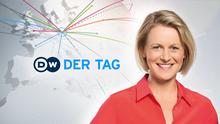 DW Der Tag Moderatorin Tina Gerhäusser (Programmpromo)
