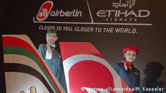 Логотипы авиакомпаний Air Berlin и Etihad