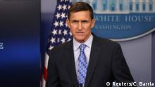 1.2.2017*** National security adviser General Michael Flynn delivers a statement daily briefing at the White House in Washington U.S., February 1, 2017. REUTERS/Carlos Barria TPX IMAGES OF THE DAY