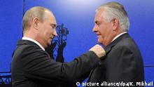 Russland Putin überreicht Orden der Freundschaft an Tillerson