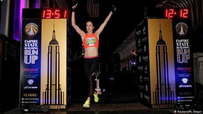 Suzy Walsham at the USA Empire State Building Run in New York