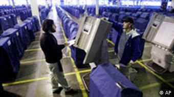 USA Wahlmaschinen Inspektion