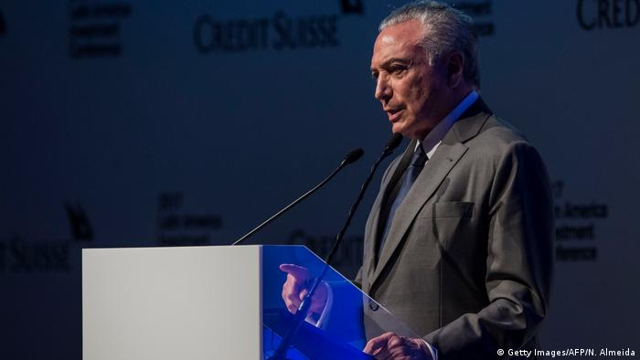 Brasilien Präsident Michel Temer in Sao Paolo (Getty Images/AFP/N. Almeida)
