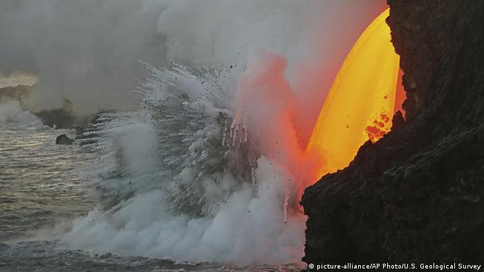 Lava From Hawaii's Kilauea volcano gushes from 'firehose' into Pacific
