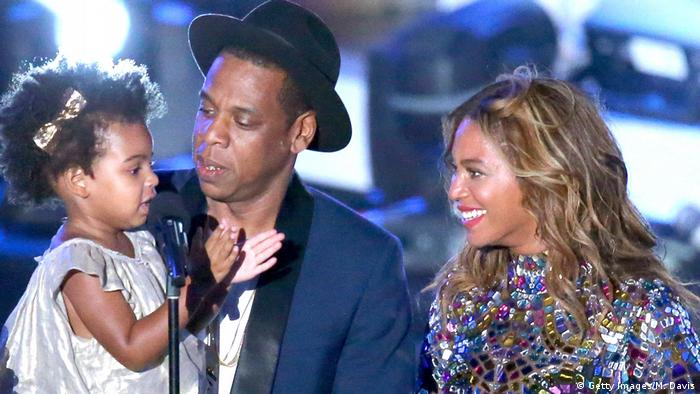 Blue Ivy, Jay Z and Beyoncé (Foto: Getty Images/M. Davis)