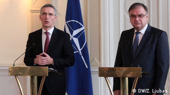 Jens Stoltenberg i Mladen Ivanić
