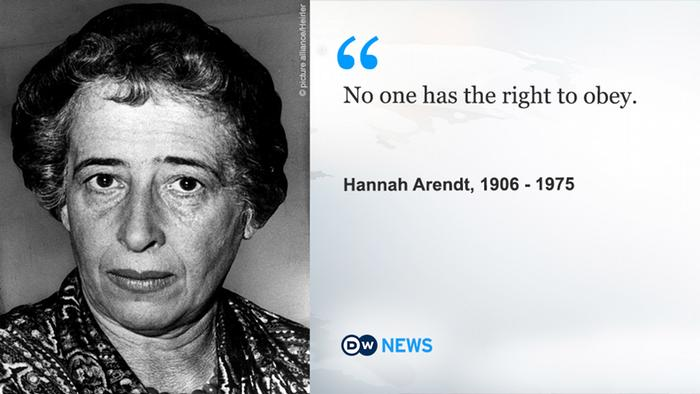 DW News Hannah Arendt quote