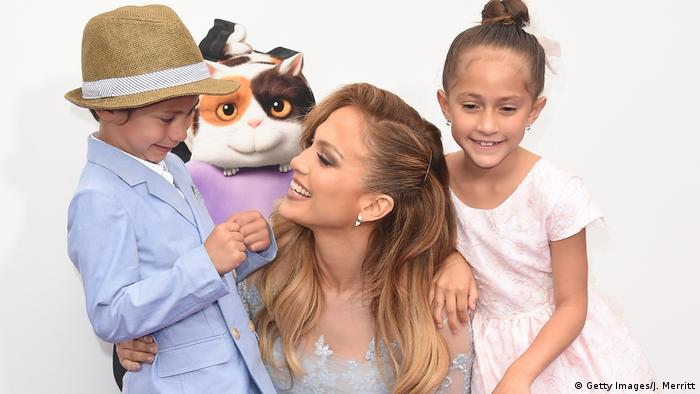 Jennifer Lopez and her 2 kids (Foto: Getty Images/J. Merritt)