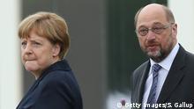 Frankreich Angela Merkel und Martin Schulz in Verdun