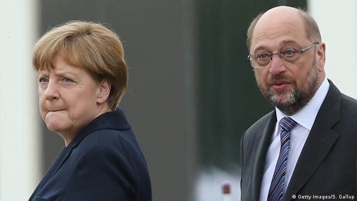 Frankreich Angela Merkel und Martin Schulz in Verdun (Getty Images/S. Gallup)