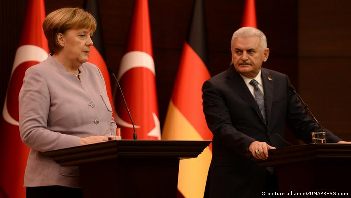 Türkei Angela Merkel - Binali Yildirim (picture alliance/ZUMAPRESS.com)