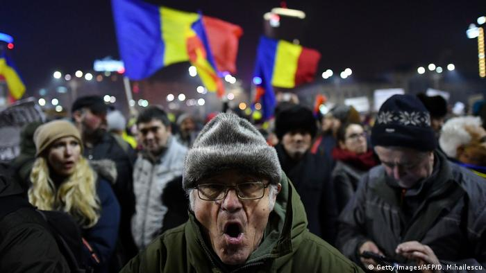 Rumänien Proteste (Getty Images/AFP/D. Mihailescu)