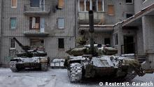 02.02.2017+++ Tanks are seen in the government-held industrial town of Avdiyivka, Ukraine, February 2, 2017. REUTERS/Gleb Garanich TPX IMAGES OF THE DAY