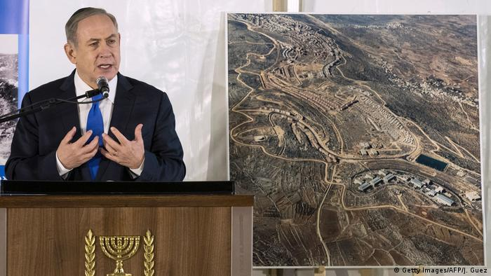 Westjordanland Benjamin Netanjahu in Ariel