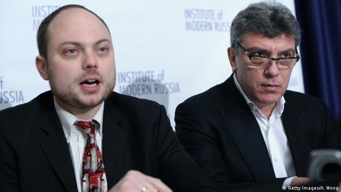 Владимир Кара-Мурза-младший и Борис Немцов, фото из архива