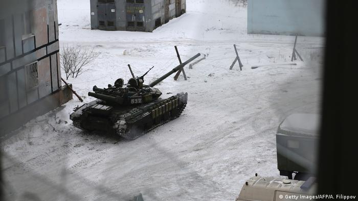 Ukraine Kämpfe in der Ostukraine in Awdijiwka (Getty Images/AFP/A. Filippov)