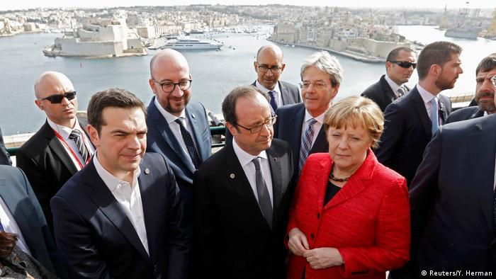 Líderes da UE reunidos em Malta