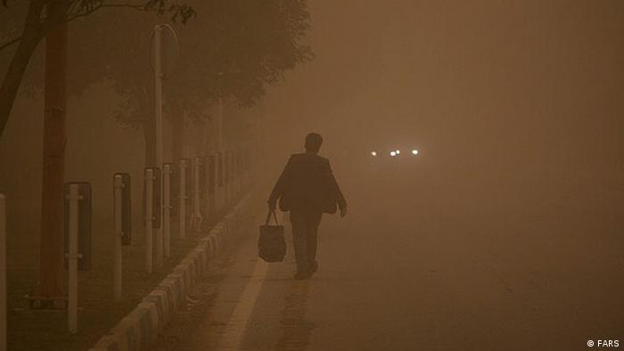 Fine particulates pollute the air in Iran