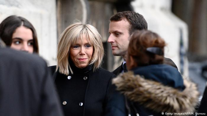 Frankreich Brigitte Trogneux, Gattin von Emmanuel Macron (Getty Images/AFP/M. Bureau)