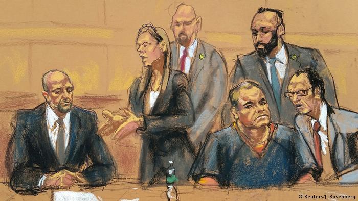Vistiendo uniforme naranja de los reos, Joaquín El Chapo Guzmán compareció ante un juez en Nueva York, por segunda vez desde que el 19 de enero fue extraditado a Estados Unidos desde México. 03.02.2017