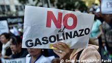 Mexiko Demonstrationen gegen Benzinpreise
