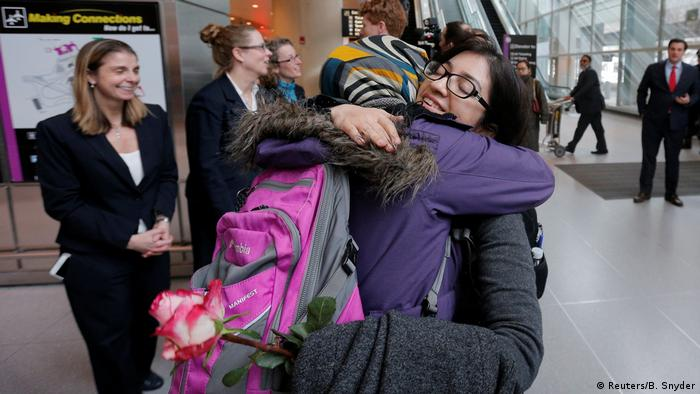 USA Boston Logan International Airport| Ankunft Reisende aus dem Iran (Reuters/B. Snyder)