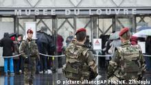 Frankreich Louvre nach Macheten-Angriff wieder geöffnet