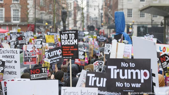 Anti-Trump-Demo in London (picture-allinace/dpa/D. Mirzoeff)
