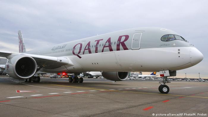 Archivbild Qatar Airways Airbus A350 Flugzeug (picture-alliance/AP Photo/M. Probst)
