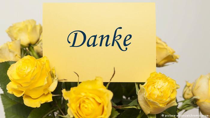 Цветы в знак благодарности