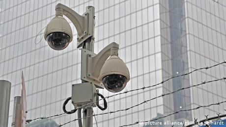 Security cameras at the 9/11 Memorial and Museum