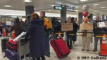 PHOTO: protesters at Dulles Airport DATE: Feb 4, 2017 LOCATION: Dulles Airport, Dulles, Virginia, USA PHOTOGRAPHER/COPYRIGHT: Pooja Dadhania
