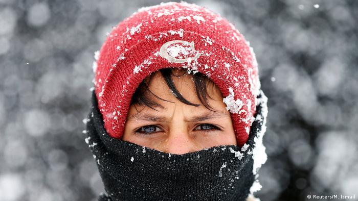Afghanistan Winter & Schnee in Kabul   Junge, Binnenflüchtling (Reuters/M. Ismail)