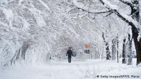 Afghanistan Winter & Schnee in Kabul | Spaziergang (Getty Images/AFP/S. Marai)