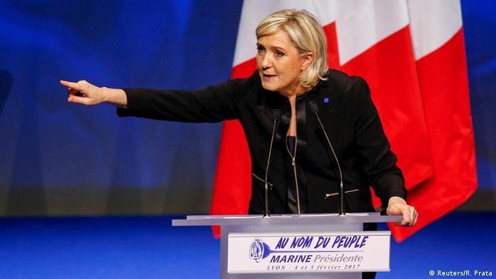 Frankreich Le Pen startet Wahlkampf mit Angriffen auf die EU