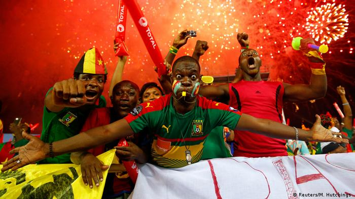 Cameroon fans at the African Cup of Nations final