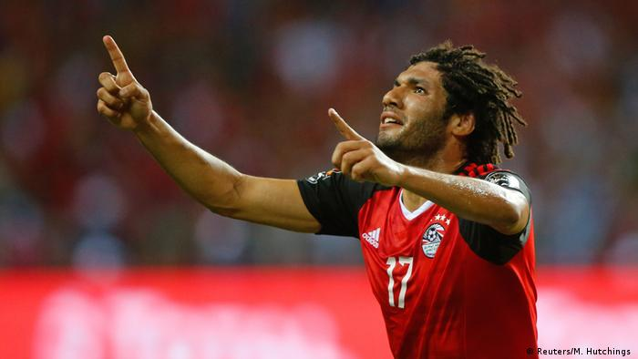 African Cup of Nations Ägypten gegen Kamerun | Mohamed Elneny Jubel (Reuters/M. Hutchings )