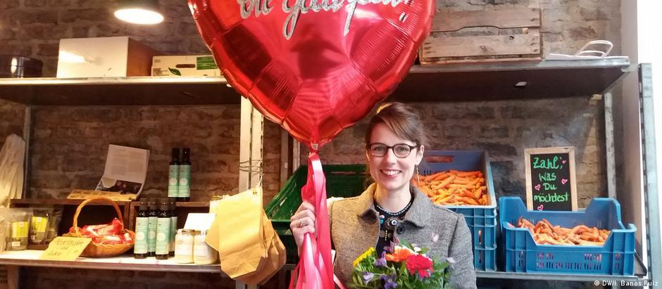 Nicole Klaski é a proprietária do The Good Food, onde o cliente paga quanto achar justo