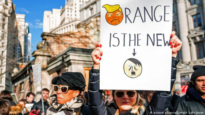 New York Demonstration nach Trump-Dekret (picture alliance/Zuma/A. Lohr-Jones)