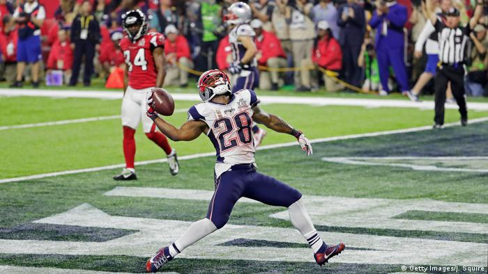 Houston NFL Super Bowl New England Patriots vs Atlanta Falcons James White Touchdown (Getty Images/J. Squire)