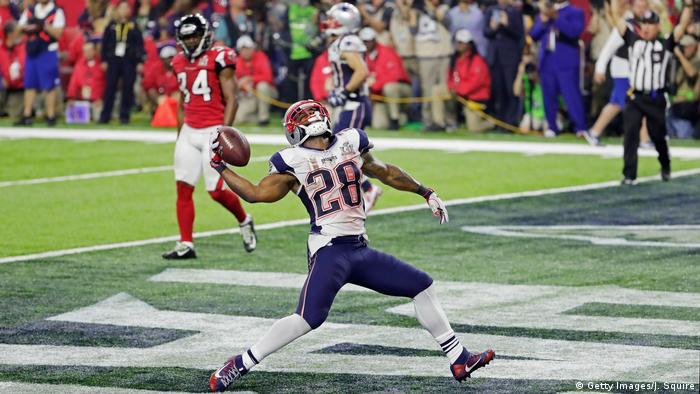 Houston NFL Super Bowl New England Patriots vs Atlanta Falcons James White Touchdown