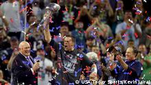 Houston NFL Super Bowl New England Patriots vs Atlanta Falcons Siegerehrung Tom Brady (USA Today Sports/Kevin Jairaj)