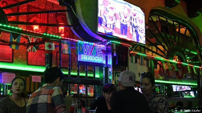 Mexiko Grenzstadt Ciudad Juarez während des Super Bowl