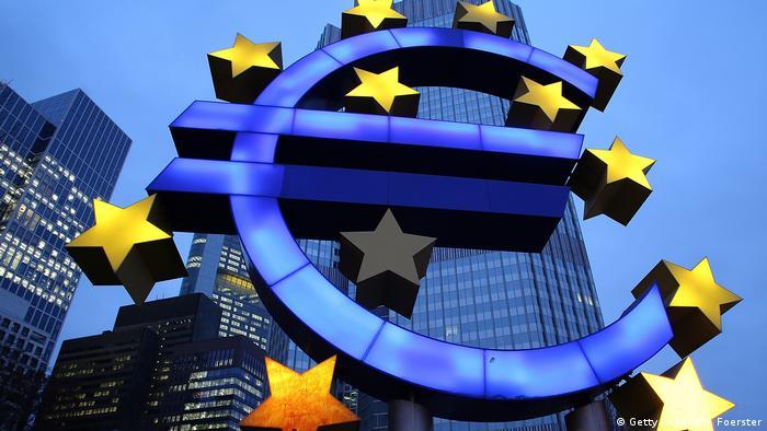Символ евро во Франкфурте-на-Майне